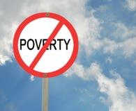 Stoppen von Armut stockbilder