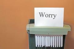 Stoppen von Sorge. Stockbild