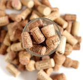 Stopper corks. In a glass Royalty Free Stock Photos