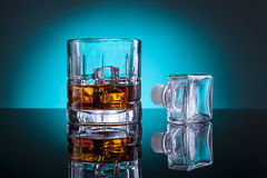 Stopper by glass of liquor. Stock Photography