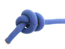 Stopper knot in climbing rope Royalty Free Stock Image