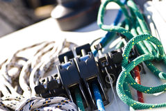 Stopper and Ropes royalty free stock image