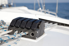 Stopper on sailboat. Stock Photos