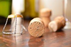 Stoppers butelki szampańskie Obraz Stock