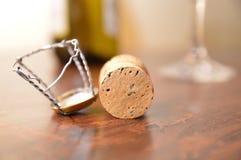 Stoppers butelki szampańskie Zdjęcie Stock