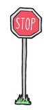 Stoppet markerar royaltyfri illustrationer
