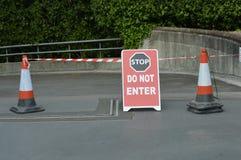 Stoppet skriver in inte tecknet Royaltyfria Bilder