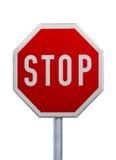 Stoppa undertecknar Royaltyfri Foto