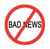 Stopping bad news. Sign of prevention of bad news Stock Photography