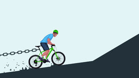 Stopping bicycle riding Stock Image