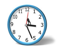 Stopping clock hand Stock Images