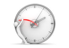Stopping clock hands to stop the time Royalty Free Stock Photos