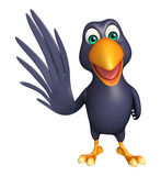 Stopping  Crow cartoon character Royalty Free Stock Images