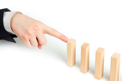 Stopping the domino effect Royalty Free Stock Images