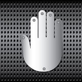 Stopping metal hand Royalty Free Stock Images