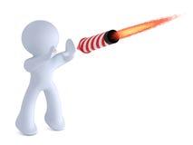 Stopping the rocket stock illustration