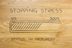 Stopping stress progress bar loading Royalty Free Stock Photography