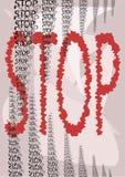 Stoppschild stock abbildung