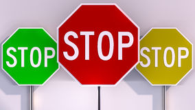 Stoppschild Lizenzfreie Stockfotos