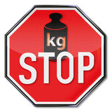Stoppschild keine Gewichtszunahme vektor abbildung