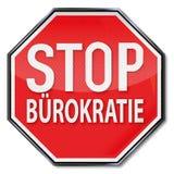 Stoppschild ohne Bürokratie vektor abbildung