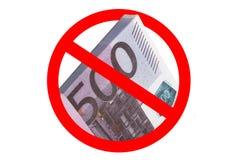 Stoppt, Euro 500 zu verkaufen Stockfoto