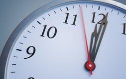 Stopptid- och tidbegrepp Stäng sig upp sikt på klockan som visar tolv timmar framförd illustration 3d stock illustrationer