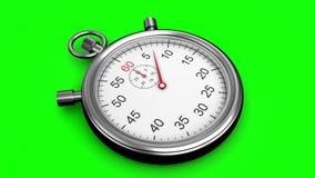 Stoppuhr auf grünem Hintergrund stock abbildung