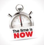 Stoppuhr - die Zeit ist jetzt lizenzfreie abbildung