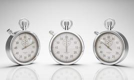 Stoppuhr mit Ausschnitts-Pfad für Vorwahlknöpfe und Uhr Stockbild