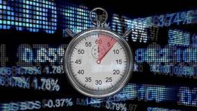 Stoppuhr und Devisenkurs