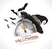 Stoppuhr - Zeit für Halloween Lizenzfreie Stockfotografie