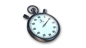 Stoppuhr, Zeitinstrument lokalisiert auf Weiß Lizenzfreies Stockfoto