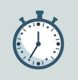 Stoppur Nedräkningbegrepp Kronometerklocka, parallell kronometer stock illustrationer