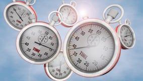 Stoppur och tid Arkivfoton