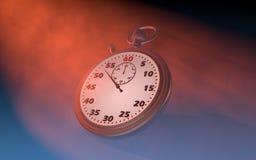 Stoppuren räknar tiden royaltyfri illustrationer