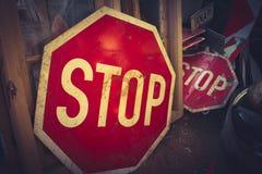 Stopsign Fotografia Stock Libera da Diritti
