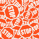 Stopsigns background Stock Photo