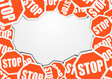 Stopsigns background Stock Image