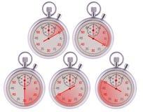 Stopwatch. 10,20,30,40,50 seconds. stock photos