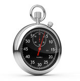 Stopwatch. Isolated on white - 3d render royalty free illustration