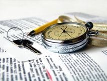 Stopwatch. The arrows of the stopwatch show time. The athletic watch stock image