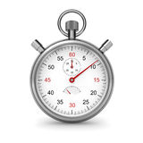 Stopwatch. Isolated stopwatch on white. Clipping path included. Computer generated image royalty free illustration
