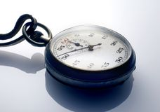 Stopwatch. Antique stopwatch on white background Royalty Free Stock Photography