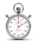 Stopwatch. 3d image. Isolated white background. Clipping path included stock illustration