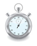 Stopwatch. Silver grey stopwatch isolated on white Royalty Free Stock Photo