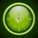 Stopwatch. Vector green stopwatch with glossy surface Stock Photography