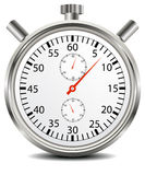 STOPWATCH. Hand made clipping path included royalty free illustration