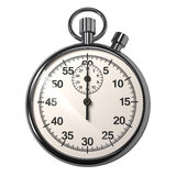 Stopwatch. Beautiful analogue stopwatch on white background stock illustration