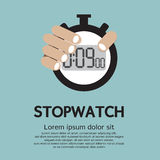Stopwatch. Hand Holding A Stopwatch Illustration vector illustration